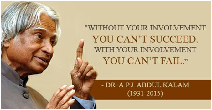 communication skills by apj abdul kalam For an effective communication an individual should always be better off in his/ hers nonverbal communication skills  unity of minds – dr apj abdul kalam.